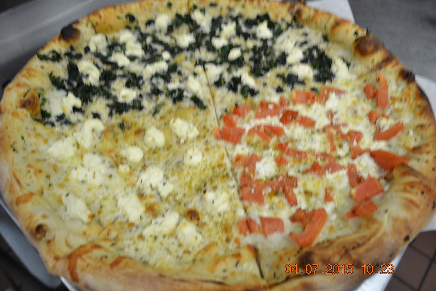 new york pizza with all the toppings