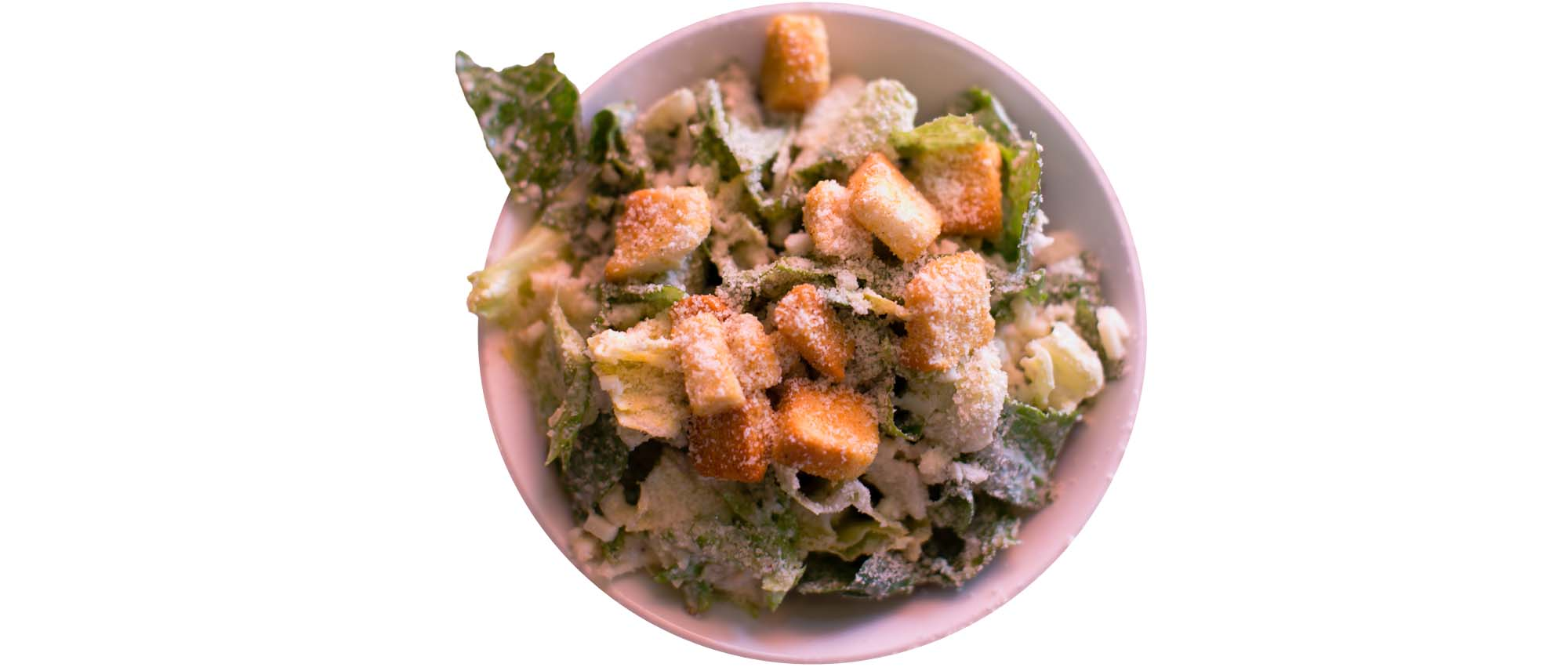 ceasar salad and croutons